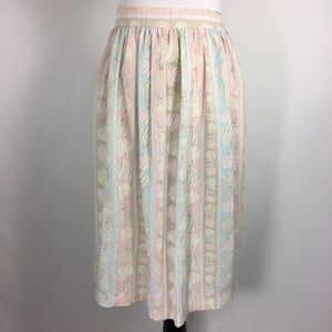 Vintage pastel novelty skirt